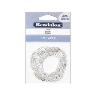 Beadalon Chain Heart Dash Lg 4.3mm Silver Plate1M|https://ak1.ostkcdn.com/images/products/18234626/P24374273.jpg?impolicy=medium