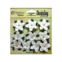 Petaloo Darjeeling Holiday Poinsettias Mini White