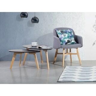 Beliani Fly II Black Wood 2-piece Coffee Table Set