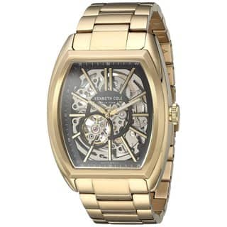 Kenneth Cole New York Men's Automatic Tonneau 10030813 Skeleton Gold-tone Watch|https://ak1.ostkcdn.com/images/products/18234696/P24374202.jpg?impolicy=medium