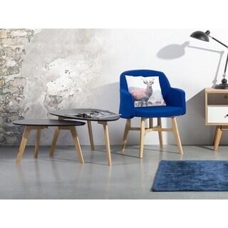 Beliani FLY II Grey Wood 2-piece Nesting Coffee Table Set