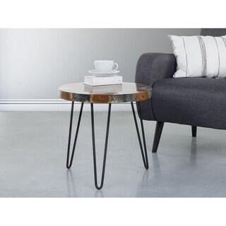 Beliani Reno Teak Wood with Resin Coffee Table