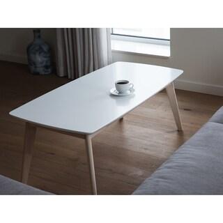 Santos White Modern Coffee Table