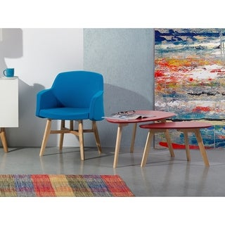 2 Piece Coffee Table Set Red FLY II