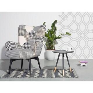Beliani Juneau Grey Wood/Steel Round Coffee Table