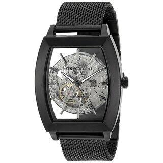 Kenneth Cole New York Men's Automatic Tonneau 10031270 Skeleton Black Mesh Stainless Steel Watch|https://ak1.ostkcdn.com/images/products/18234751/P24374203.jpg?impolicy=medium