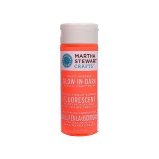Martha Stewart Paint Glow in Dark Orange 6oz