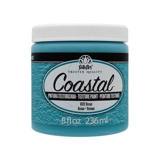 Plaid Folkart Paint Coastal Texture 8oz Ocean