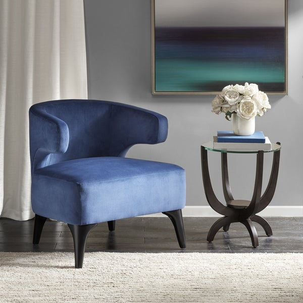Shop Madison Park Signature Upson Blue Upholstered Accent