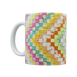 Happy Lines Quilt Ceramic Mug Diamond VintageQuilt