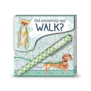 Lady Jayne Matchbook Pad W/Pen Walk Dogs