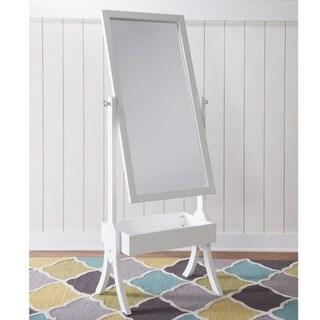 Holland Cheval White Rectangular Mirror - N/A