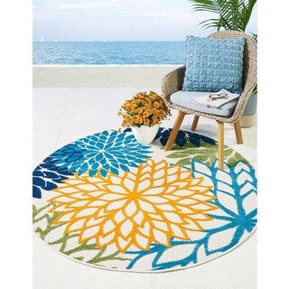 Nourison Aloha Floral Multicolor Indoor/Outdoor Rug - 5'3