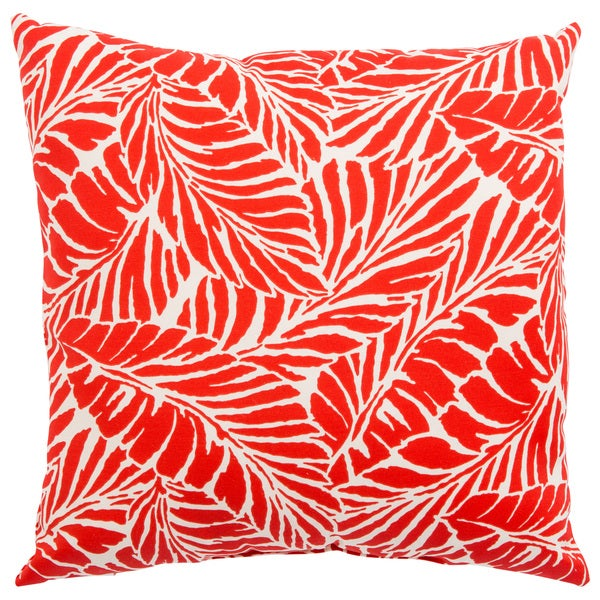 Indoor/ Outdoor Curacao Floral Red/ White 18-inch Throw Pillow