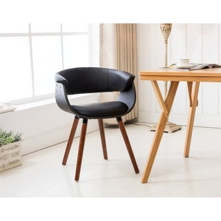 Porthos Homes Mid-century Style Dining Chair With Full PVC Upholstery