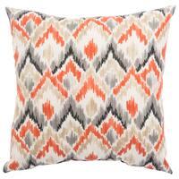 Indoor/ Outdoor Nico Ikat Orange/ Gray 20-inch Throw Pillow