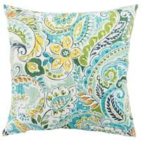 Indoor/ Outdoor Calista Floral Blue/ Green 18-inch Throw Pillow