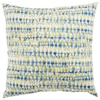 Indoor/ Outdoor Calista Abstract Blue/ White 18-inch Throw Pillow