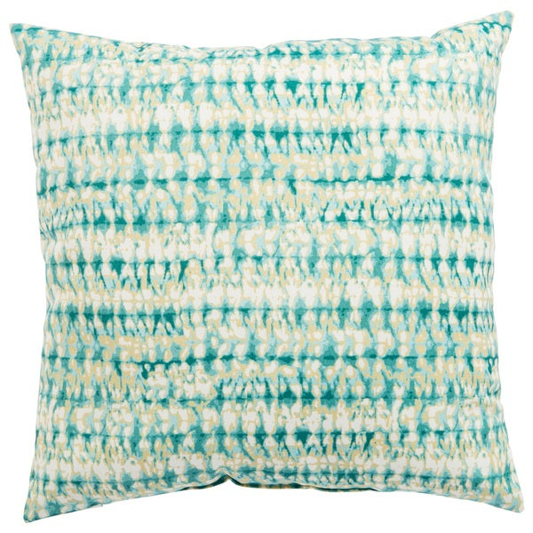 Indoor/ Outdoor Calista Abstract Aqua/ White 18-inch Throw Pillow
