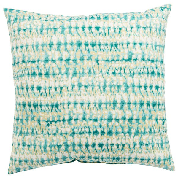 Indoor/ Outdoor Calista Abstract Aqua/ White 18-inch Throw Pillow