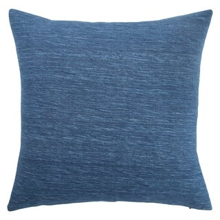 Kiona Solid Indigo 22-inch Throw Pillow