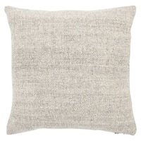 Crispin Solid Cream/ Black 22-inch Throw Pillow