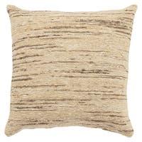 Geode Stripe Beige/Silver 22-inch Throw Pillow