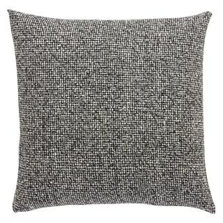 Milo Abstract Black/ White 22-inch Throw Pillow