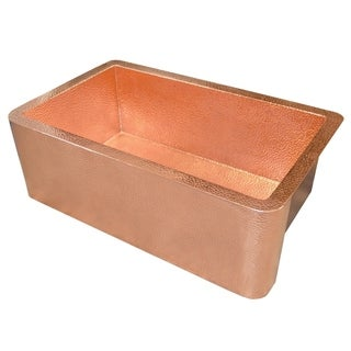 Farmhouse Polished Copper 30-inch Undermount/ Apron-Front Kitchen Sink