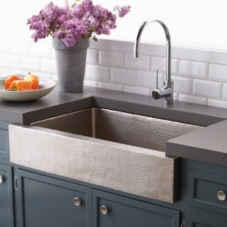 Paragon Brushed Nickel 33-inch Single Basin Farmhouse Kitchen Sink - Brushed nickel