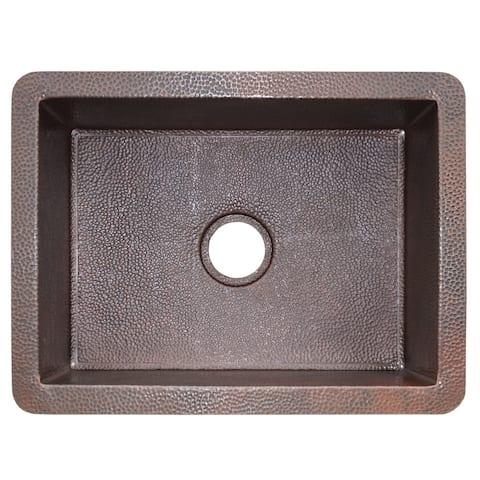 Cocina Hand Hammered Antique Copper 24-inch Undermount Kitchen Sink