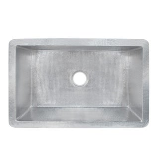 Cocina Hammered Brushed Nickel 30-inch Undermount Kitchen Sink - Brushed nickel