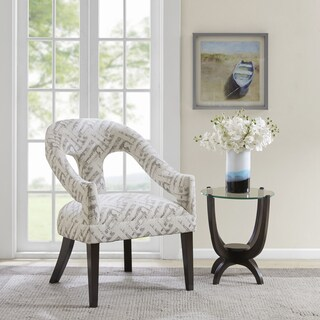 Madison Park Kailee Natural Open Back Barrel Design Accent Chair