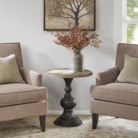 Madison Park Hemlock Reclaimed Walnut Wood Round Accent Table