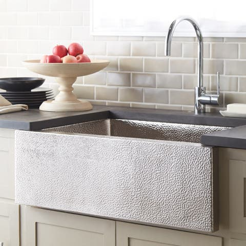 Pinnacle Brushed Nickel 33-inch Farmhouse Kitchen Sink