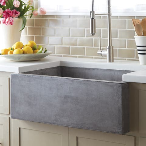 "Farmhouse 30-inch NativeStone Kitchen Sink - 30"" x 18"" x 10.25"""