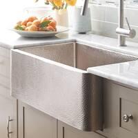 Farmhouse Brushed Nickel 33-inch Kitchen Sink - Brushed nickel
