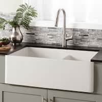 Farmhouse 33-inch Double Bowl NativeStone Kitchen Sink