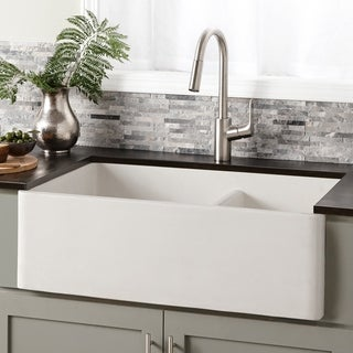 Farmhouse 33-inch Double Bowl NativeStone Kitchen Sink (3 options available)