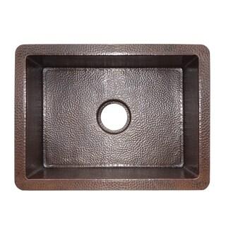 Cocina Hand Hammered Antique Copper 21-inch Undermount Kitchen Sink
