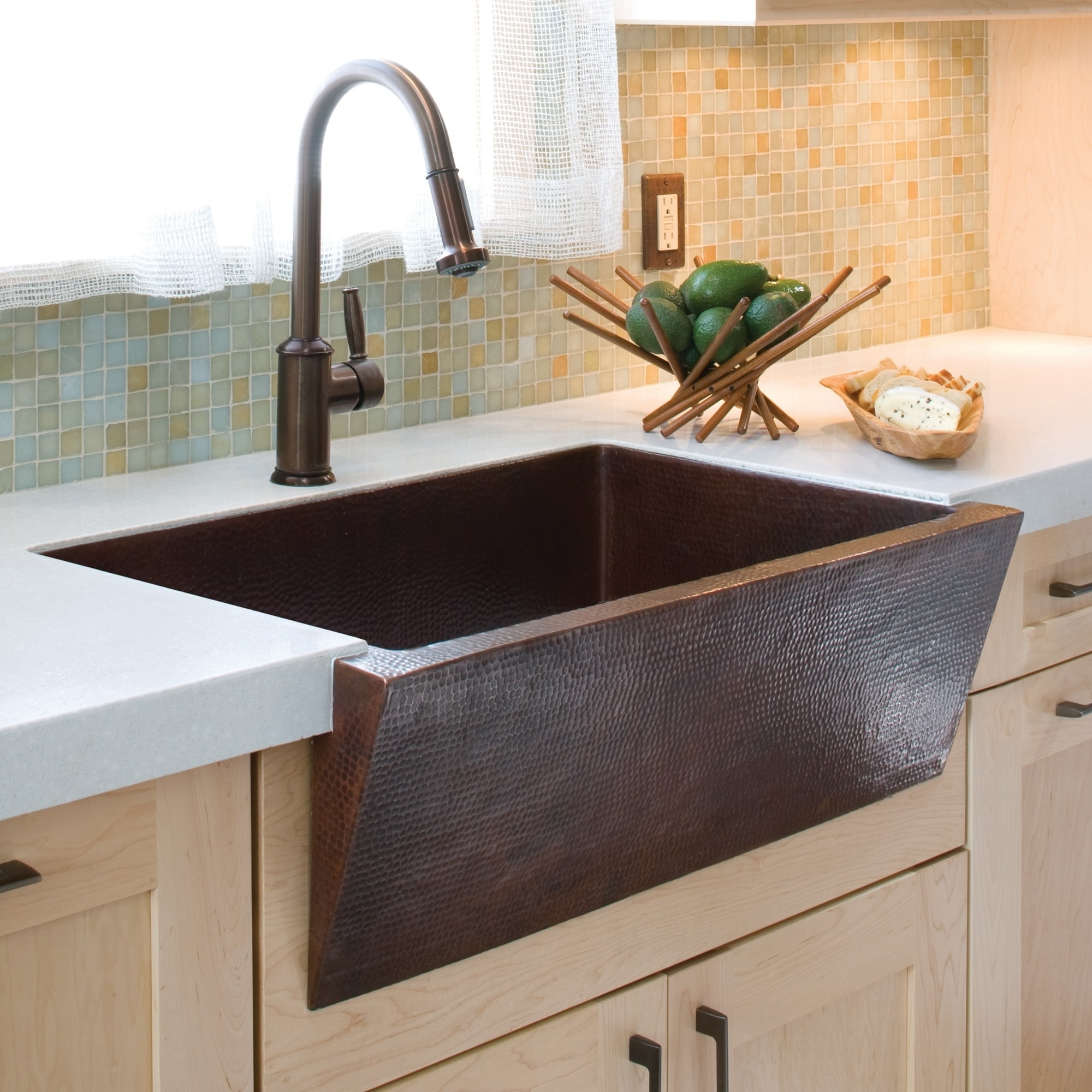 Image of: Shop Black Friday Deals On Zuma Hand Hammered Antique Copper Farmhouse Kitchen Sink Overstock 18235257