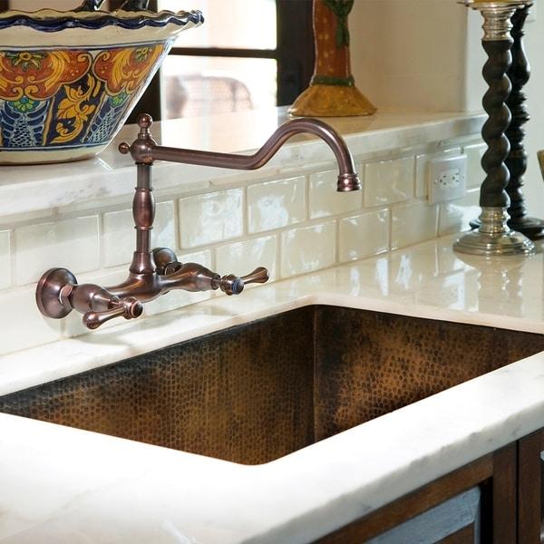 Cocina Hand Hammered Antique Copper 33-inch Undermount Kitchen Sink. Opens flyout.