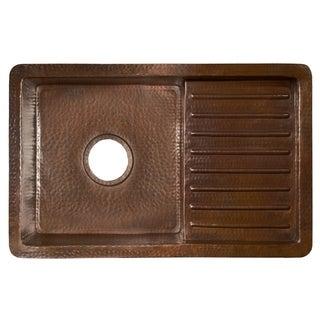 Cantina Pro Antique Copper Drainboard Undermount Kitchen Sink