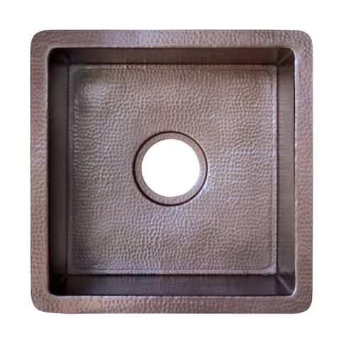 Cantina Hammered Antique Copper Undermount Bar/ Kitchen Prep Sink
