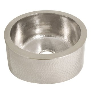Fiesta 19-inch Round Brushed Nickel Bar/ Prep Sink - Brushed nickel