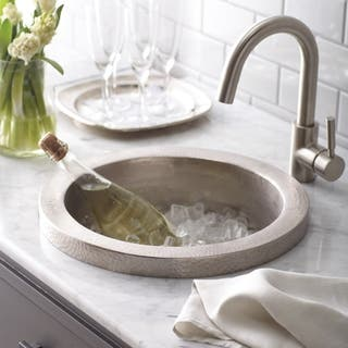 Mojito Hammered Brushed Nickel Drop-in Bar/ Prep Sink