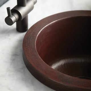 Mojito Hammered Antique Copper Drop-in Bar/ Prep Sink