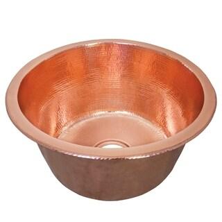 Redondo Grande Hammered Polished Copper Universal Mount Bar Sink - Polished Copper