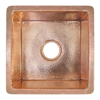 Cantina Hammered Polished Copper Undermount Bar/ Kitchen Prep Sink - Polished Copper