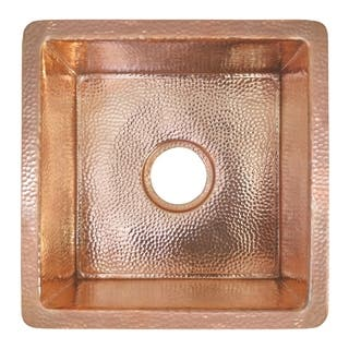 Cantina Hammered Polished Copper Undermount Bar/ Kitchen Prep Sink - Polished Copper